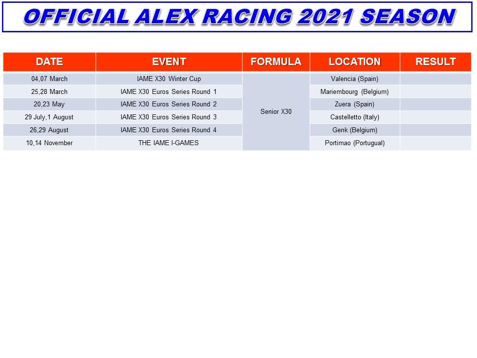 Alessandro Ceronetti Racing Season 2021 Iame Senior X30